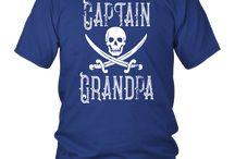Boat Captain Grandpa Shirt Pirate Matching Family Cruise