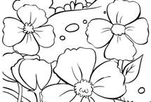 colouring in pages - various