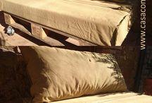 Cojines a medida / Rellenos de espuma y fundas confeccionadas, a medida para interior y exterior.