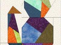 Paper Piecing Quilts / auf Papier genähte Patchworkblöcke