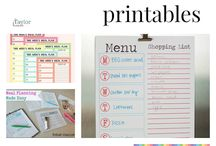 [Printable Planners} Meal Planning / Meal Planning is the best way to cut your grocery bill. This is a collection of Meal planning printables to help you with your meal planning.