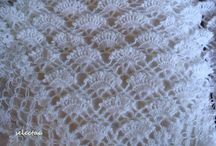 Bridal knit- crochet shawl