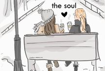 friendship / Ο πίνακας είναι αφιερωμένος, με όλη μου την αγάπη στη Λένα, τη Μαριάννα και την Παρασκευούλα.