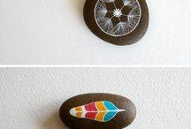 Stenen decoreren! / Beschilderen van stenen!