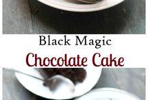Dunkler Schokoladen Kuchen