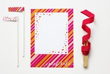 Freebies & Printables / Free printable invitations, buntings & projects.