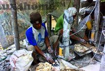 Mosaïque de galets. / Mosaique de galets. Toutes les dalles de galet Pierre & Galet sont fabriquées artisanalement. Mosaïque de galets pierres naturelles...