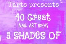 Crumpet Nail Tarts Presents - 3 Shades of Purple / Crumpet Nail Tarts Presents 40 Great Nail Art Ideas #40gnai