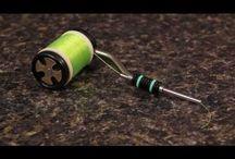 fly bobbin-drziak na muskarsku nit