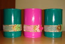 Flower pots of recyclable materials