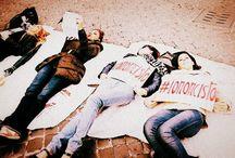 Le battaglie di civiltà / Le immagini delle manifestazioni, gli incontri, le battaglie per la giustizia