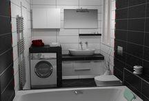 ΖΩΝΤΑΝΕΨΤΕ ΤΟΝ ΧΩΡΟ ΤΟΥ ΜΠΑΝΙΟΥ / Φωτορεαλιστική απεικόνιση για ανακατασκευή μπάνιου σε μονοκατοικία στην Κεφαλονιά. Χρησιμοποιήθηκε τριχρωμία σε Λευκό, Κόκκινο και Μαύρο.