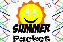 5th Grade Summer Packet / 5th Grade Summer Packet. This is a summer packet for students entering sixth grade. Practice during the summer is an important way to reinforce ideas and concepts learned during the past school year.  ENJOY!