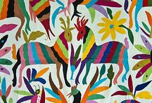 Otomi Embroidery Pattern Mexican Textiles