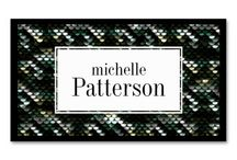 Business Cards : Sequins Look / these cards are designed to look like sequin patterns -- most of these are from me and some are from other designers ... click on the website button or larger image to see how to purchase these business cards for yourself ...