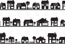 Illustration > houses