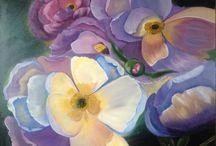 My paintings / Oil painting, flowers, floral, arts, peonies