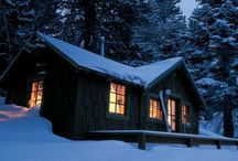 Cabins. / by Nat @ ShabbyD