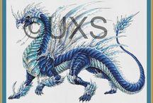 Artisan cross stitch Dragons