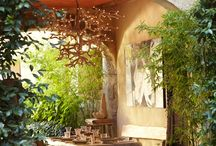 Dream backyards / I love the way these pictures make me feel. My mind relaxes and floats along with the simple beauty of plants and design