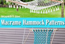 Macrame / A board for amazing macrame patterns for hammocks, chairs, plant hangers, wall hangings, macrame bracelets, curtains and different macrame knots! #Macrame #MacramePatterns