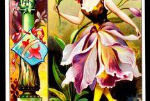 Vintage, fleurs