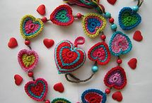 crochet hearts etc