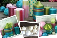 Glanz- und Metalleffekt Farben / Mit verschiedenen Metall- und Glanzeffekt Farben werden Gegenstände veredelt. Refining items with different shining an metallic paints.