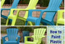 Painting Plastic and Wooden Garden Furniture / Ideas and tips on painting plastic and wooden garden furniture