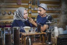 Barista Coffee Shop Couple