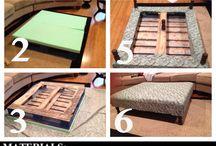 saját készítésű bútorok