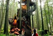 Me and my child tree house wishlist.. / Garden , tree house, farm
