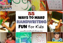 ideas for handwriting activities