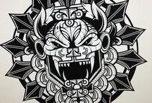 tatuaj aztec