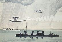 Sea planes - Liner ships