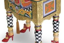 Whimsical painted furniture. Szalone meble