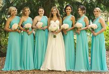 turquoise bridesmaids flower options