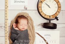 Birth announcement with props