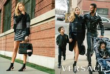 Versace Fall Winter 2016 ADV Campaign / Versace is proud to present its Fall / Winter 2016 campaign shot by Bruce Weber. The campaign stars Gigi Hadid, Karlie Kloss and Dilone in a series of tableaux, some real-life and some fantastical. The combination perfectly illustrates the relevance and wearability of modern Versace for all parts of one's life, from the ultra-glamourous to the everyday. / by Versace