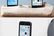 wooden stants for iphone tablets