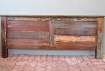 Rustic Head Boards / Wood Head Boards made from 100% Recycled wood products