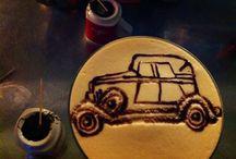 Latte art cars