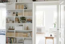 Door frame shelving