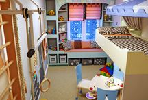 παιδικό δωμάτιο για δυο κορίτσια