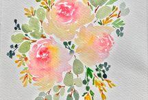 Блок цветы