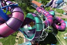 Waterslides / Because why wouldn't you travel the world, on a tour of amazing waterslides?