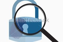Cyber security / Internet and cyber security vector graphics saved from Shutterstock