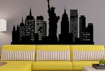 New York City / NYC wallpapers, NYC mural decor,NYC photo,  NYC painting ideas