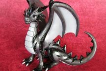 Amazing polymer clay Dragons