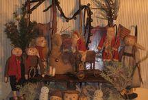 Primitive Christmas decorating. ..